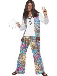 Lækker hippie mand kostume