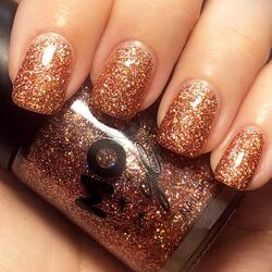 Moon Holografisk Glitter Neglelak Rose Gold