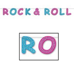 Glitteret Rock'n roll streamer