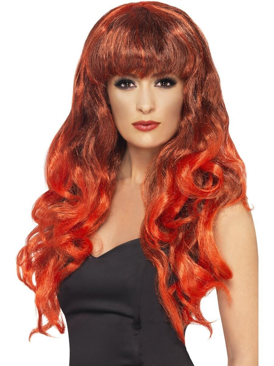 rødhåret paryk