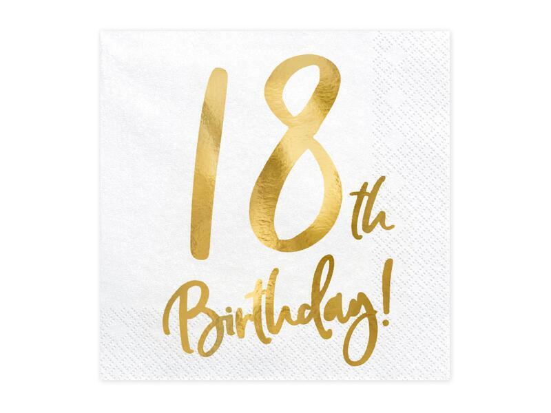 Fødselsdagskort 18 års Kort til
