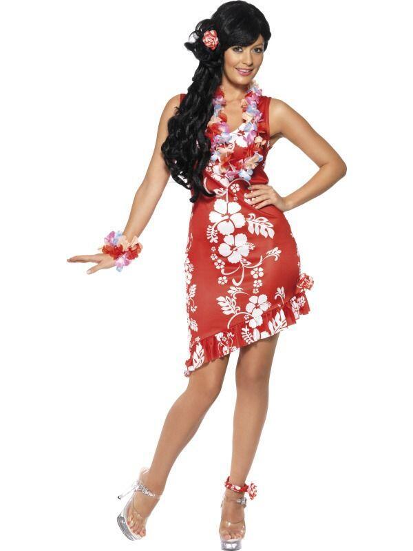 904d1f763e4a Køb Flot hawaii kjole i rød og hvid til kvinder til 139