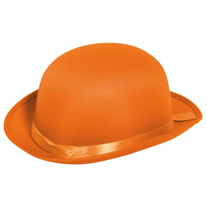 Orange Bowler hat
