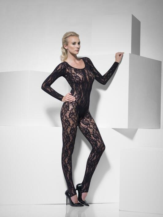 Body stocking med blonder
