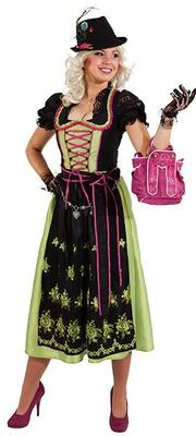 Dirndl Lotti Sort/grøn