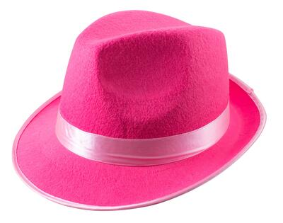 Trilby Hat Neon Pink
