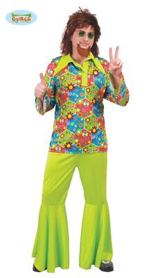 Flower Power Herre kostume