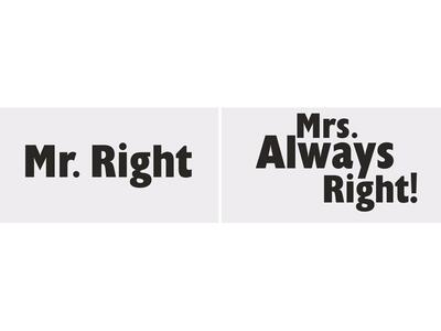 Mr. Right - Sjove kort