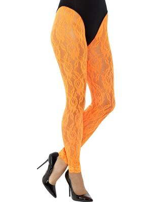 Blonde Leggings Neon Orange
