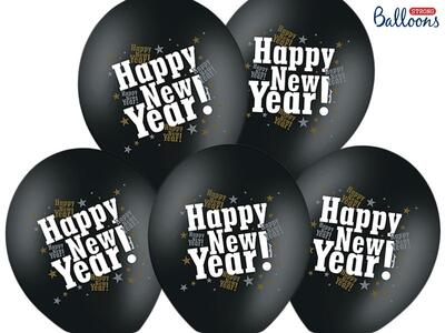 Happy New Year Ballon 50 stk