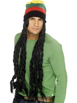 Rasta Hat med Dreadlocks
