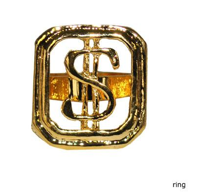 Ring, single dollar Guld
