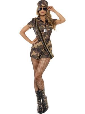 Sexy soldat kostume