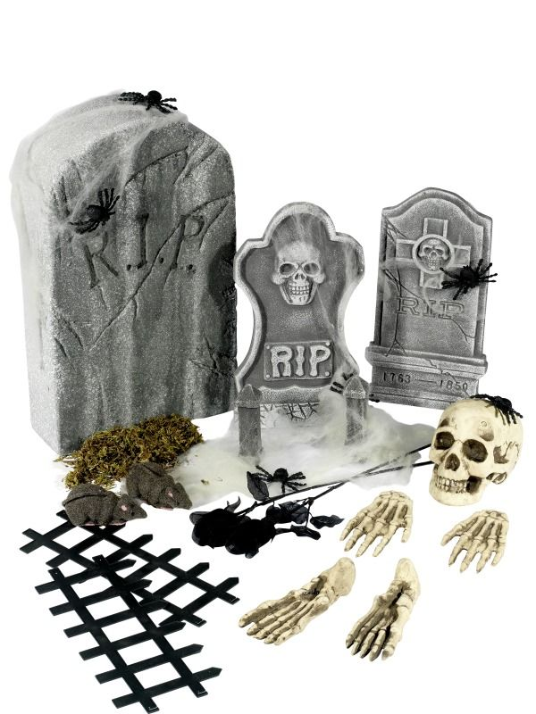 halloween dekoration udsmyk halloween festen med gravplads. Black Bedroom Furniture Sets. Home Design Ideas