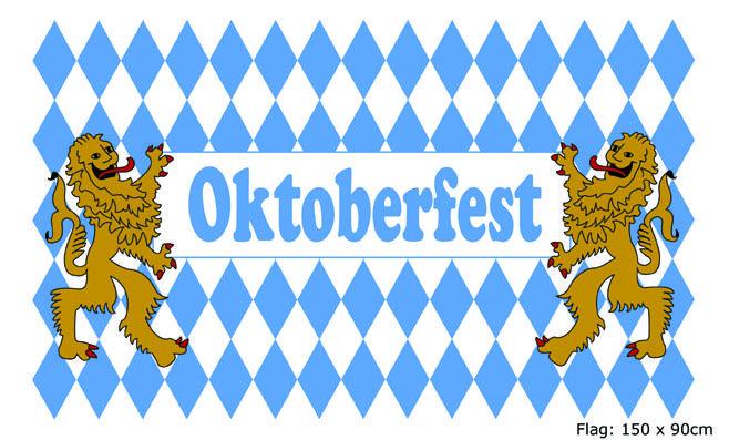 Oktoberfest banner lfest dekoration kan du k be hos for Oktoberfest dekoration